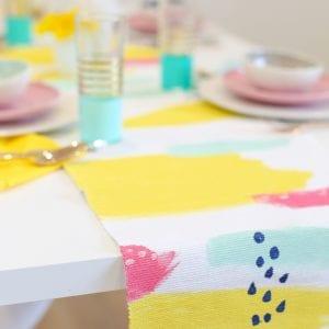 DIY Abstract Painted Table Runner thumbnail