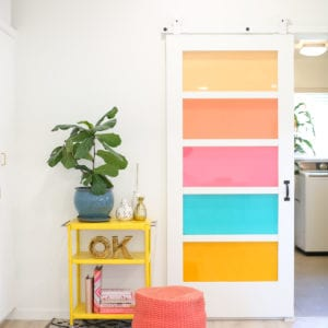 DIY Faux Stained Glass Sliding Barn Door thumbnail