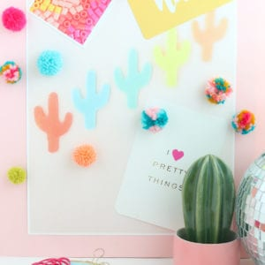 DIY Fluffy Yarn Pom Pom Magnets thumbnail