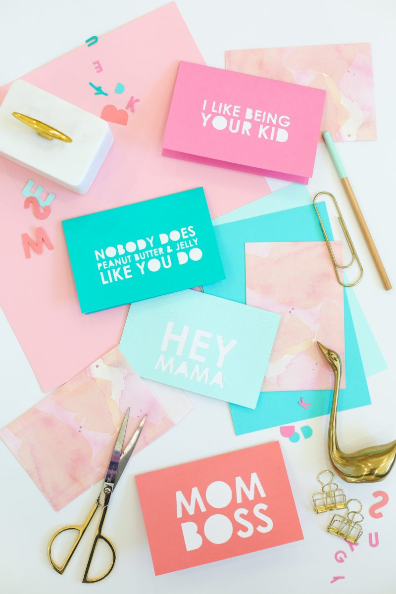 DIY Typography Mother's Day Cards
