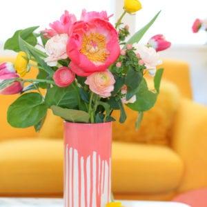 DIY Paint-Dipped Vase thumbnail