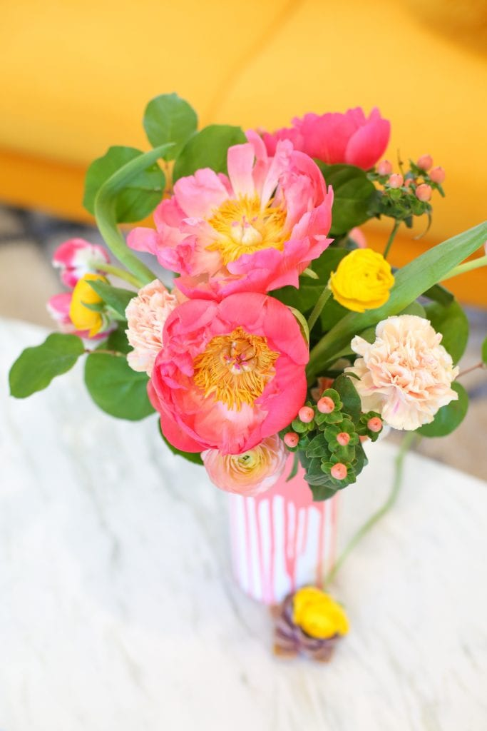 DIY Color Dipped Vase
