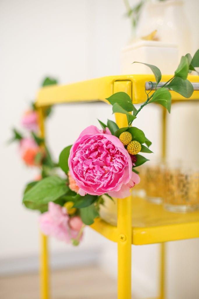 DIY Floral Swag Garland