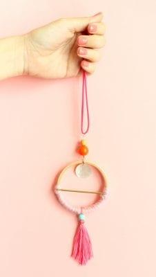 DIY Scandinavian Hoop Necklaces