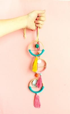 DIY Scandinavian Hoop Necklaces
