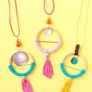 DIY Scandinavian Hoop Necklaces thumbnail