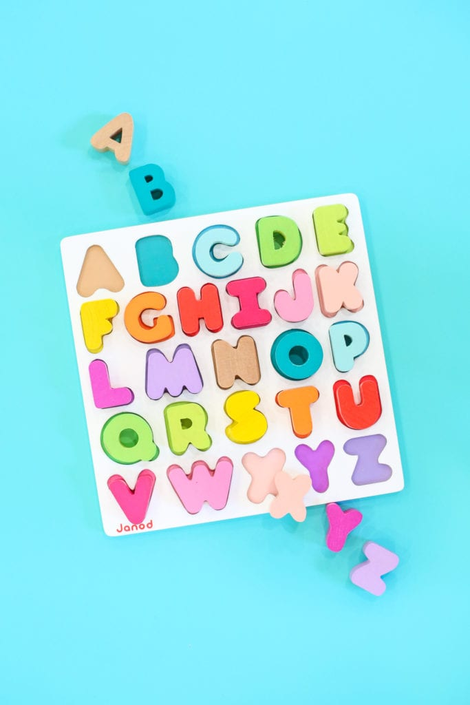 Colorful alphabet puzzle for kids