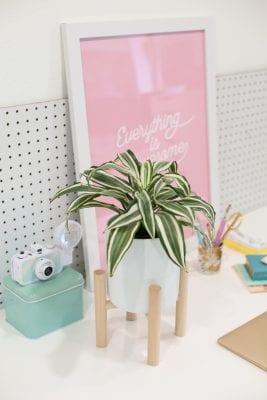 DIY Midcentury Modern Plant Stand