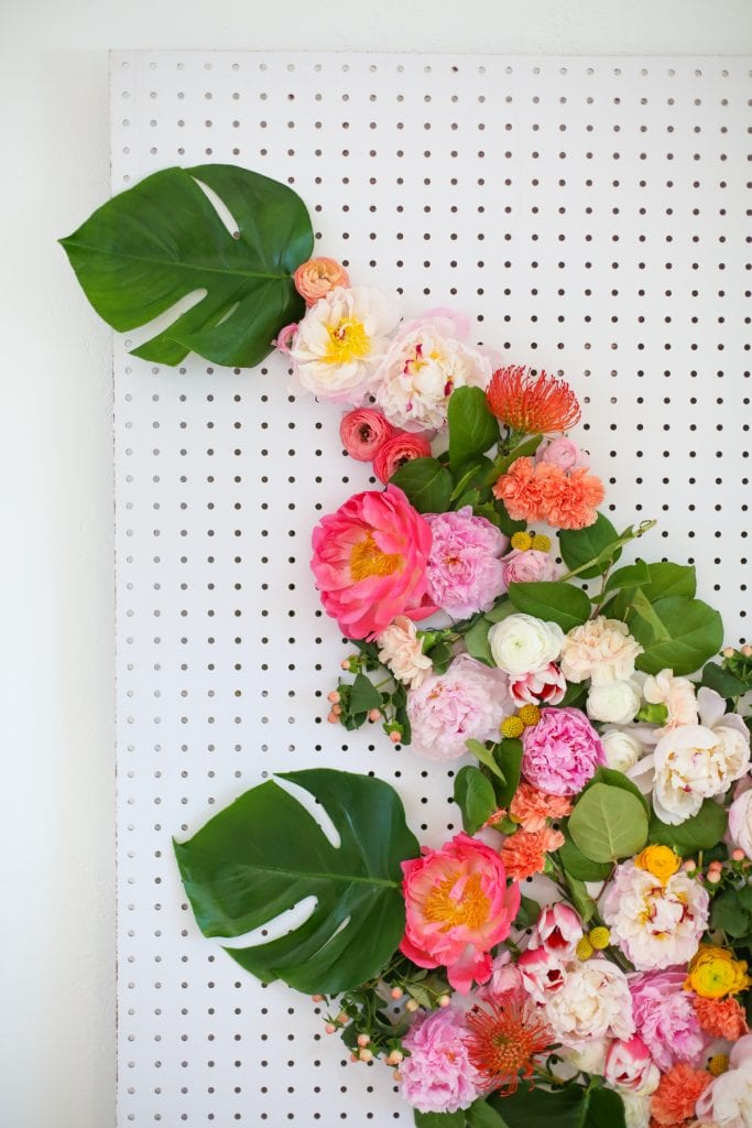DIY Floral Photo Backdrop