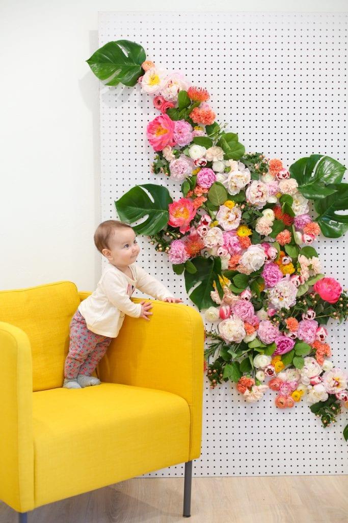 DIY Floral Photo Backdrop