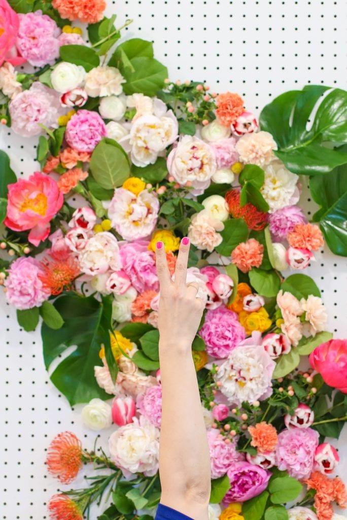 DIY virágos fotó hátteret