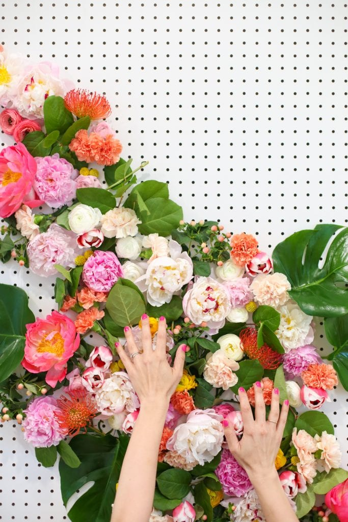 Diy Floral Photo Backdrop Lovely Indeed