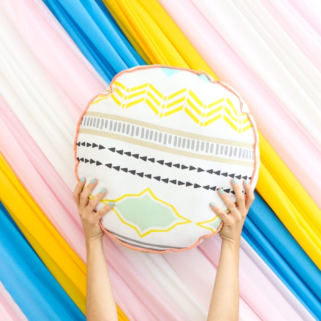 DIY Large Colorful Floor Pillows