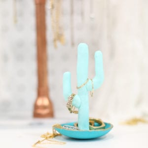 DIY Clay Cactus Ring Dish thumbnail