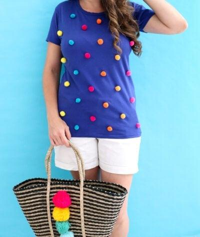 DIY Pom Pom Shirt-1-7