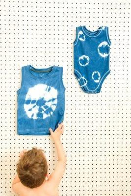 DIY Shibori Dyed Kids' Clothes