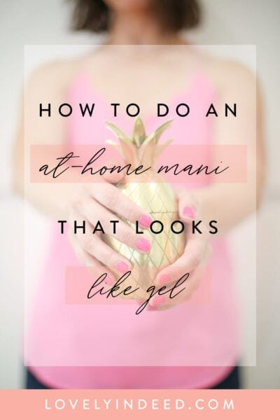 at home mani tutorial
