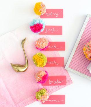 DIY Pompom + Acrylic Place Cards thumbnail