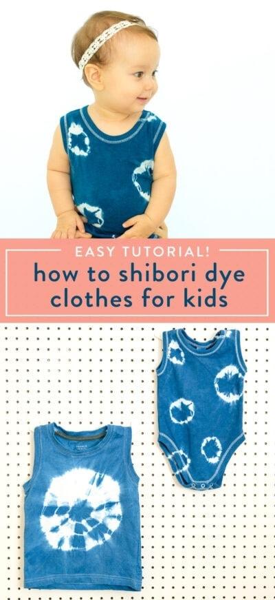 shibori dye kids clothes