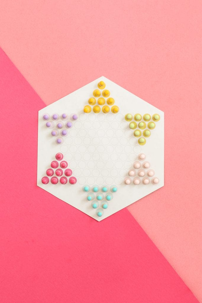 DIY Magnetic Travel Chinese Checkers Game