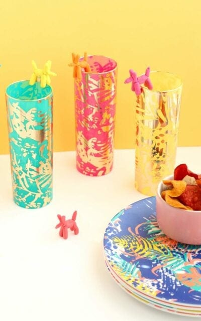 DIY Balloon Animal Drink Stirrers