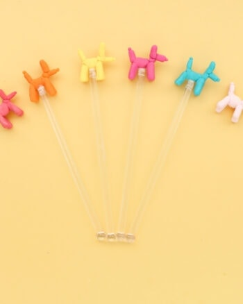 DIY Balloon Animal Drink Stirrers