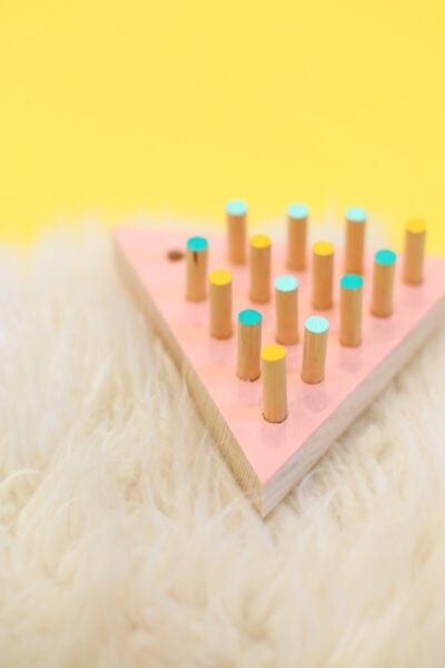 DIY Triangle Peg Jump Game