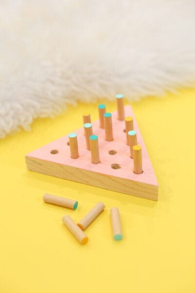 DIY Triangle Peg Jump Game