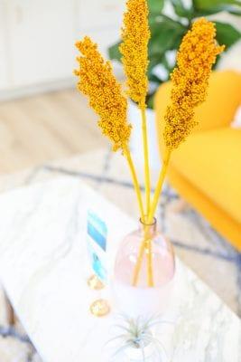 Yellow berries in vase
