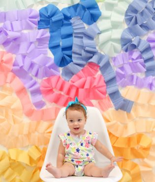 DIY Crepe Paper Wall Photo Backdrop thumbnail