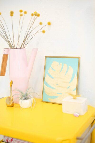 DIY Gold Leaf Tropical Print