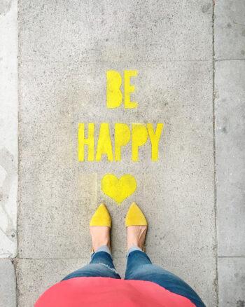 DIY Stencil Spray Chalk Sidewalk Messages
