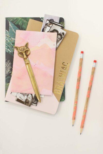 DIY Gold Marbled Pencils