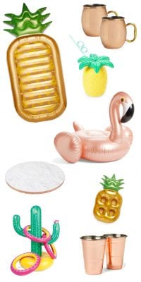 Summer pool party supplies