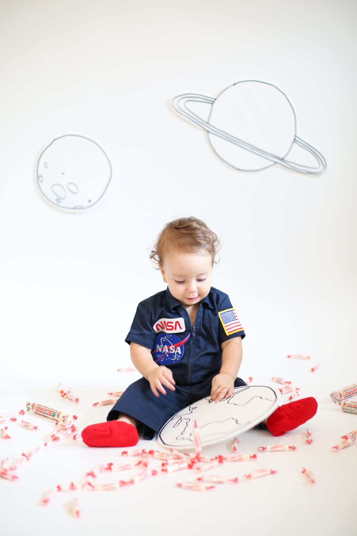 Baby astronaut costume for Halloween