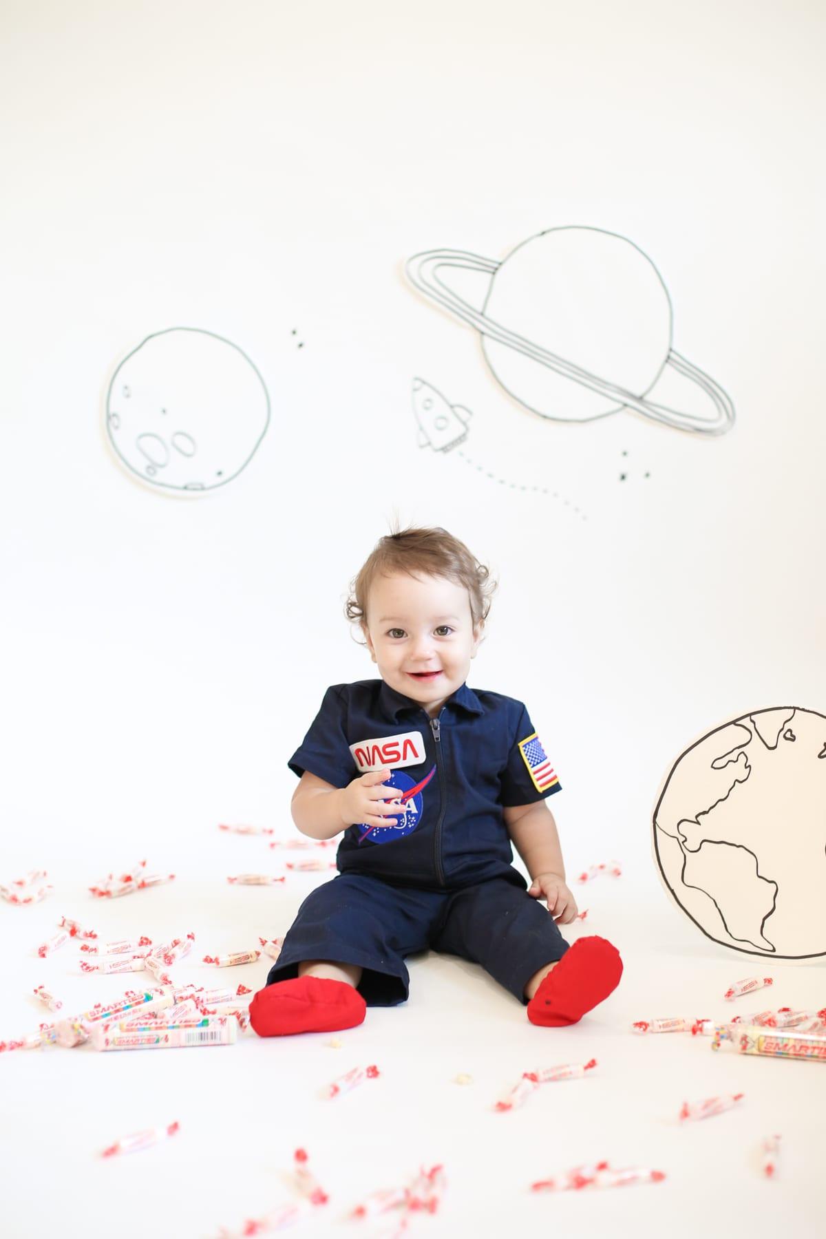 Baby astronaut costume for Halloween