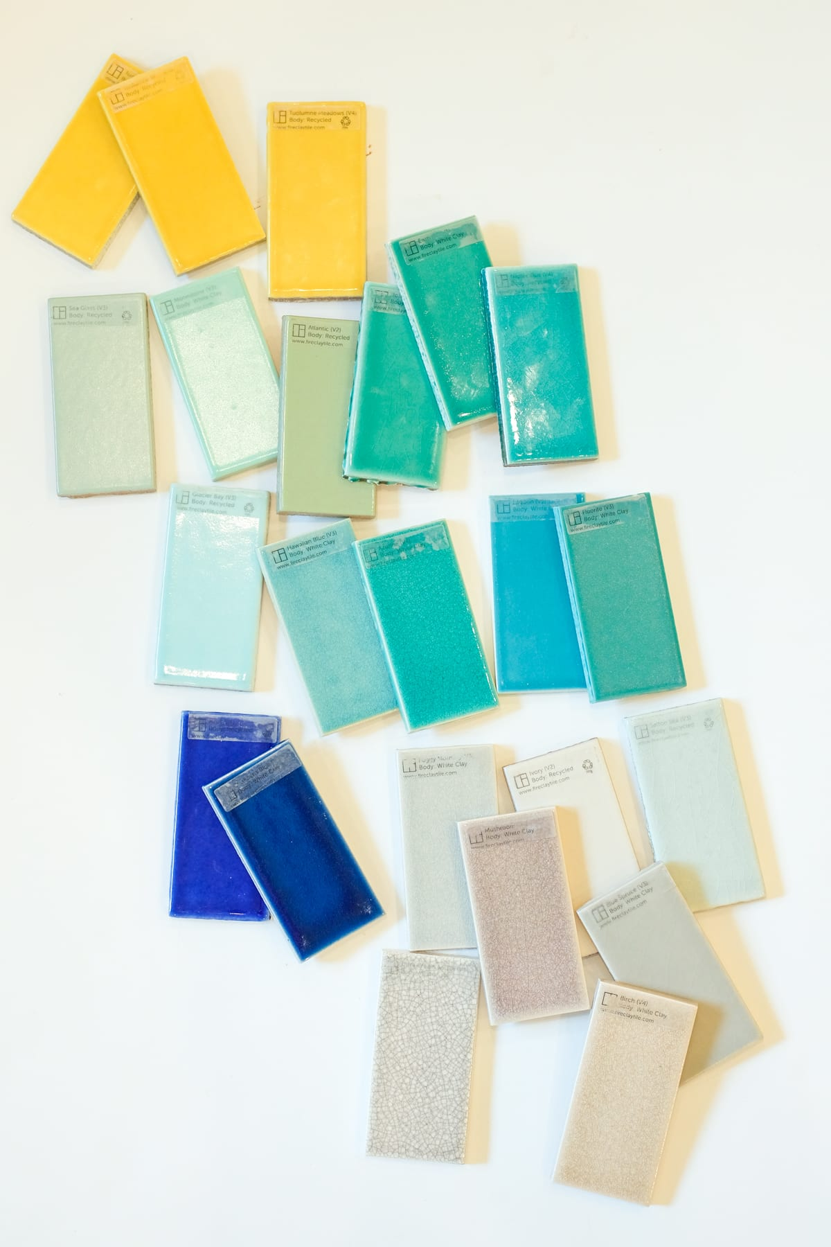 Fireclay Tile Samples