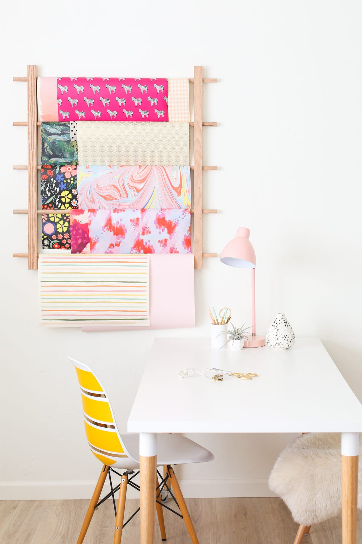 How To Make A Hanging Organizer For All Your Wrapping Paper Lovely