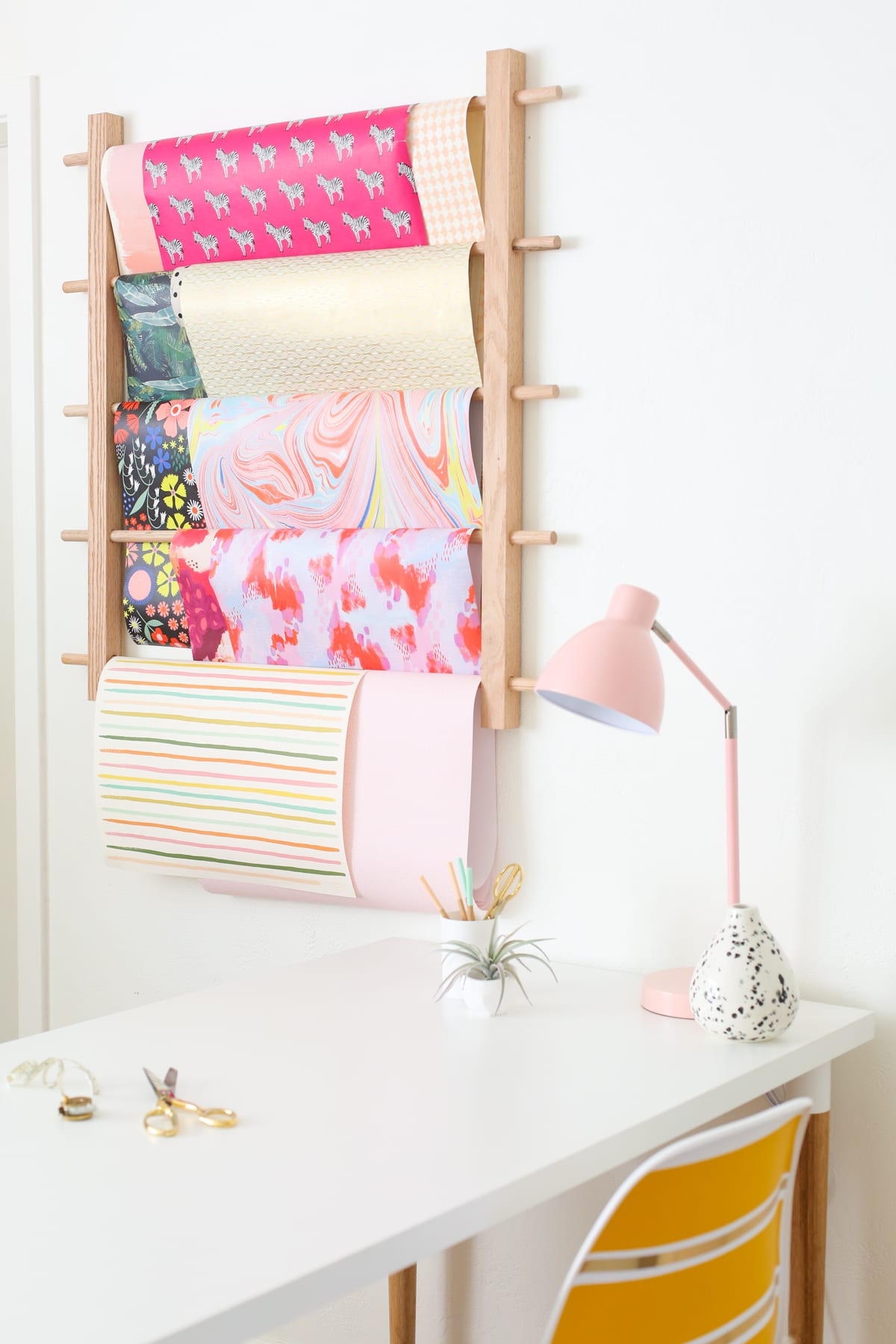 How to Make a Hanging Organizer for All Your Wrapping Paper 6
