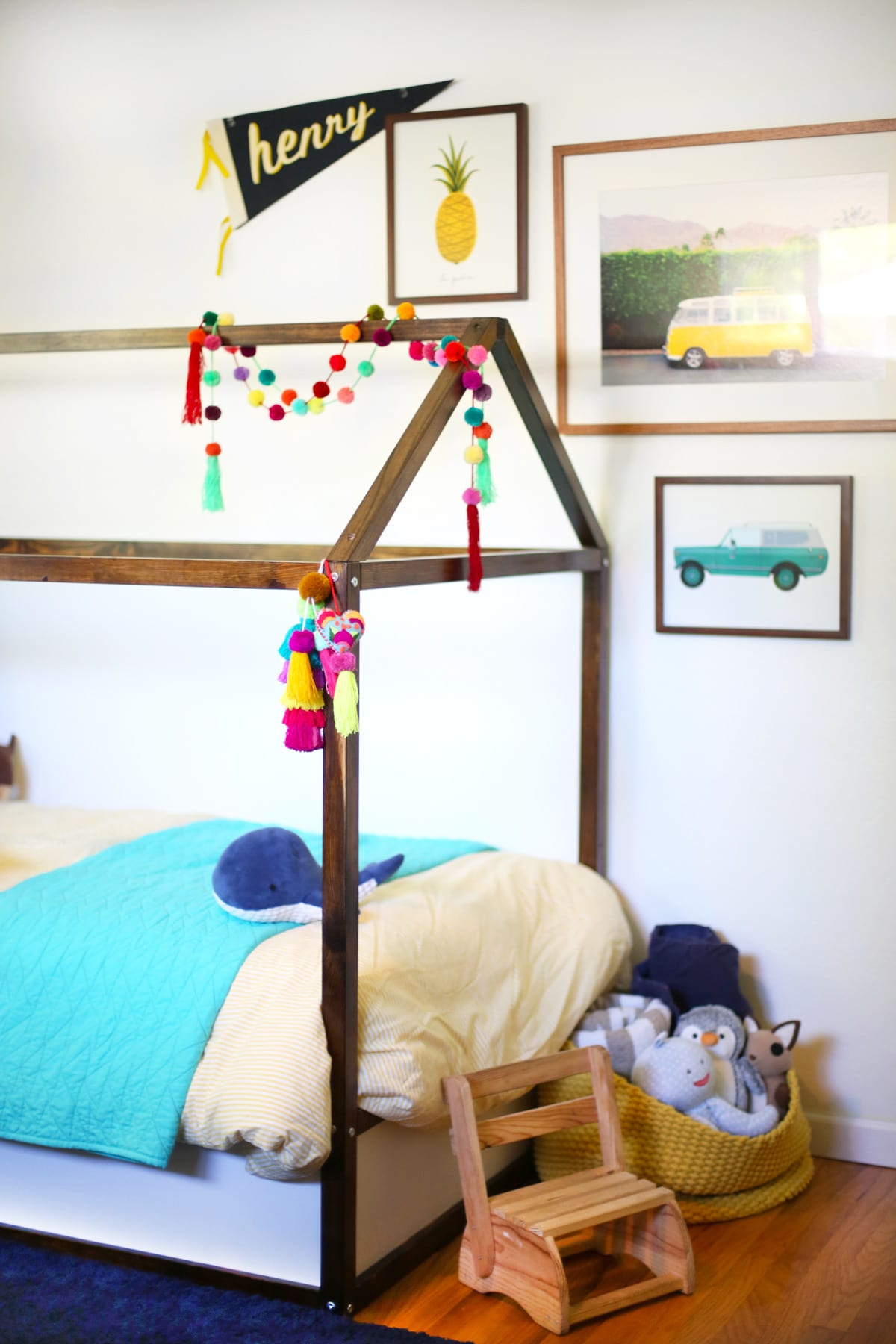 DIY IKEA Kura bed hack
