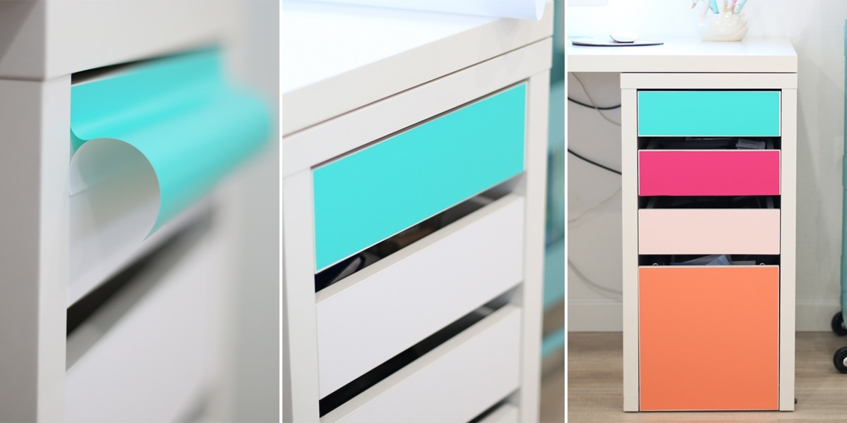 DIY No-Paint Colorful Drawers