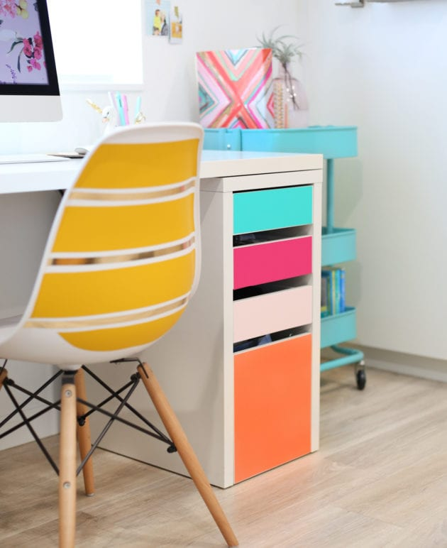 DIY No-Paint Colorful Drawers thumbnail