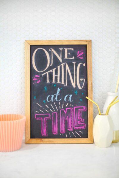 Chalkboard hand lettering
