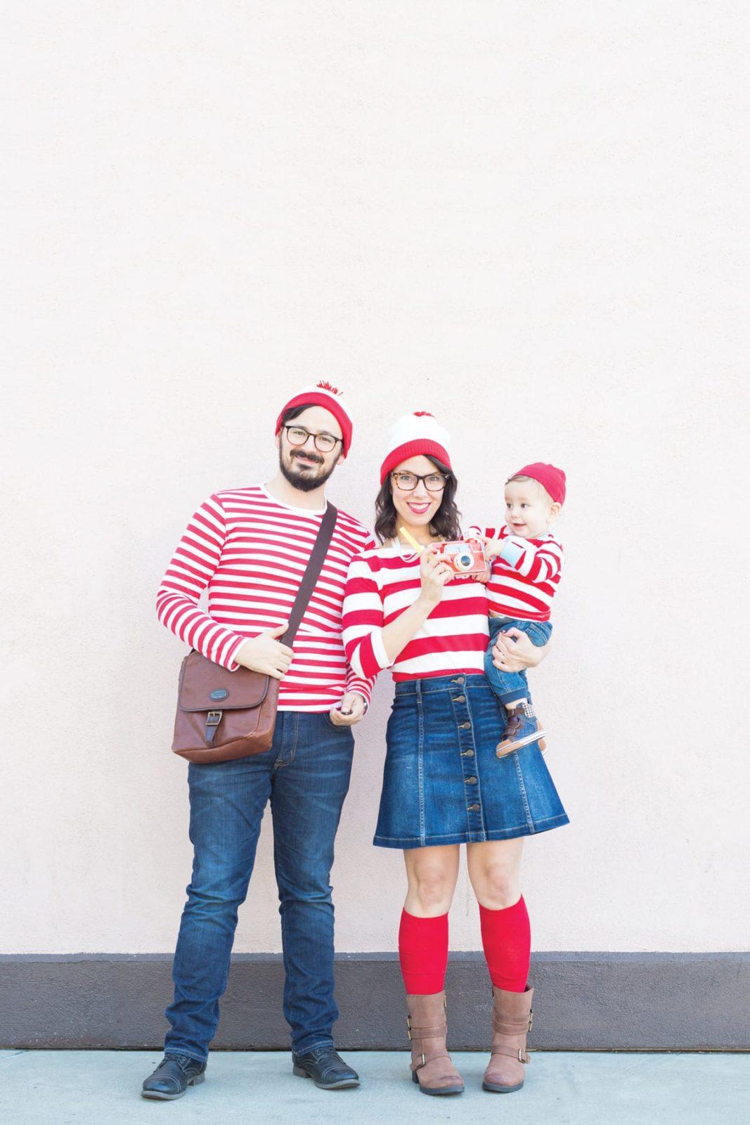 Where's Waldo family Halloween costume
