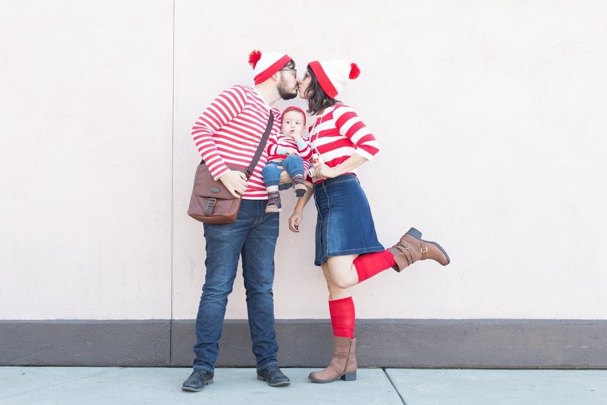 Where's Waldo family Halloween costume