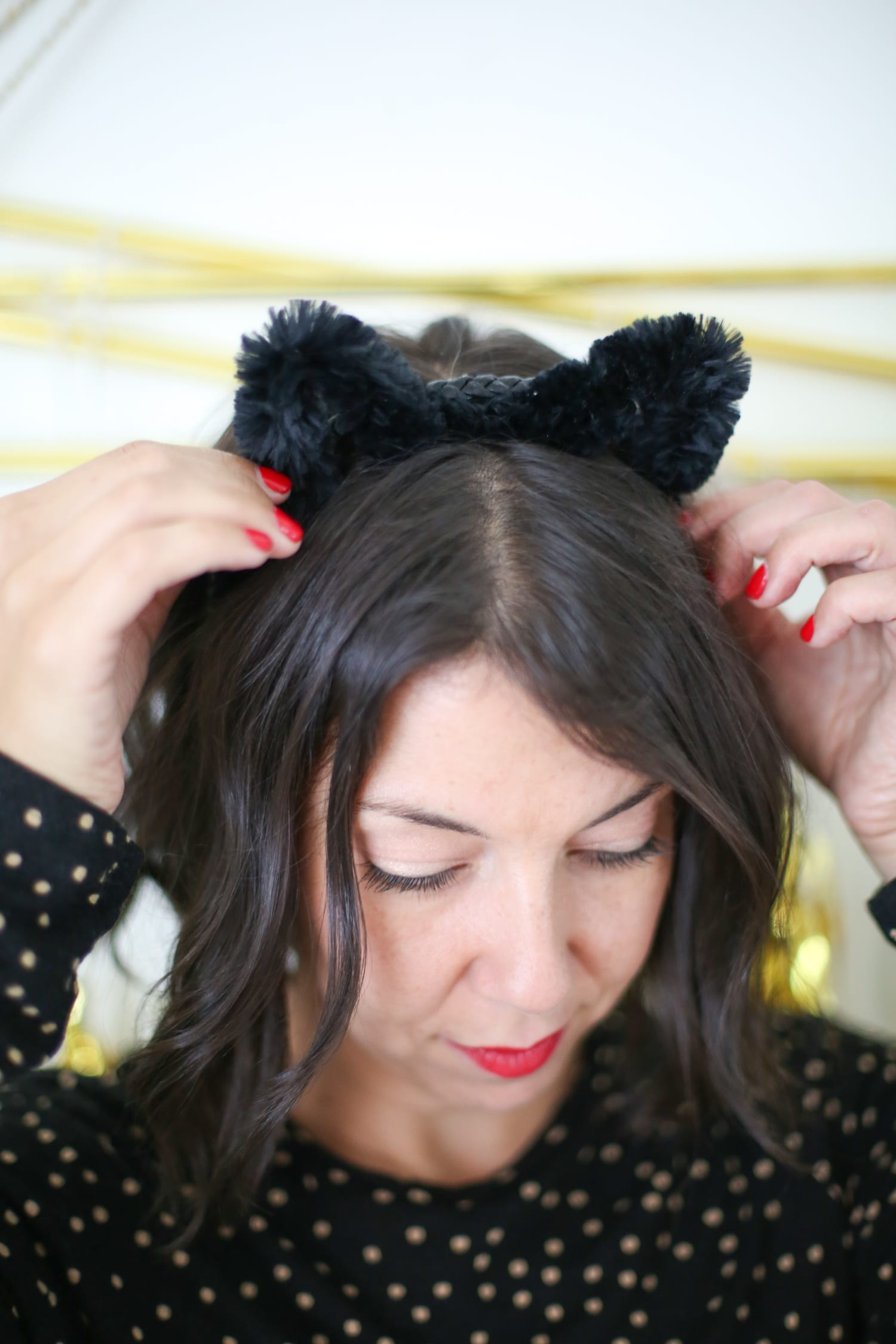 DIY Cat Ears Headband for Halloween
