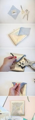 How to make a leather envelope