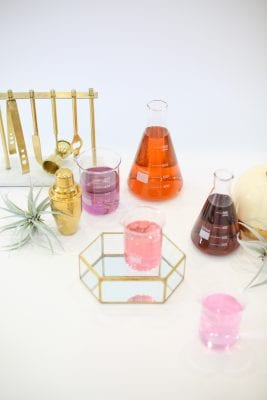 Halloween Beakers and Test Tubes