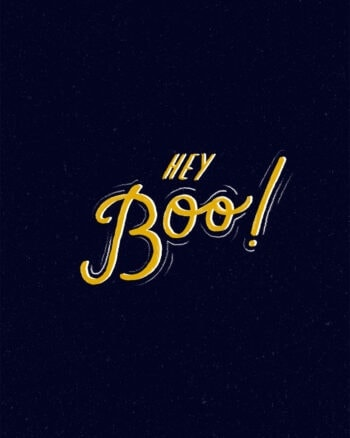Hey Boo! Free Halloween art printable download