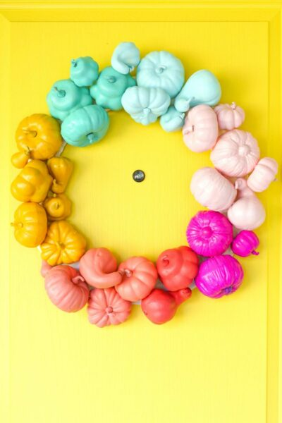 Make a colorful Halloween wreath in about an hour